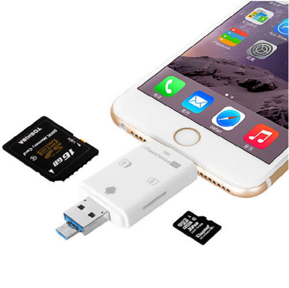 Universal OTG i-Flash memory plug for iPhone and Galaxy phone Image