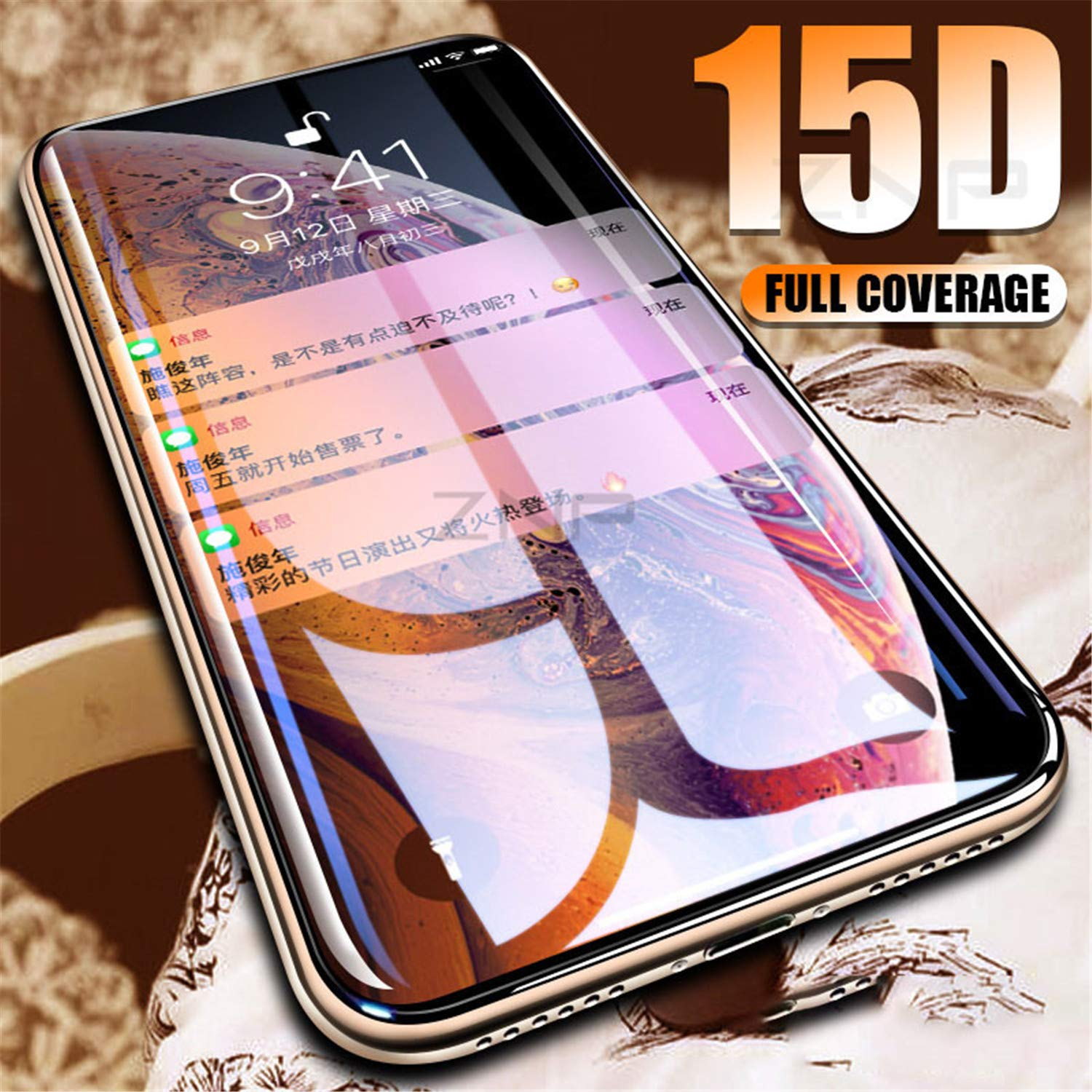 Curved Edge glass screen protector for iPhone X XR XS (Max) Image