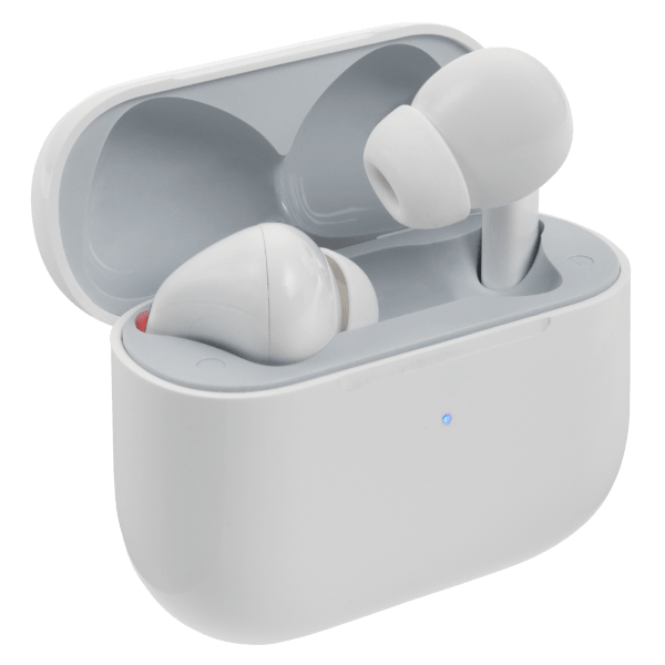 Bluetooth earbuds with wireless charging case Image