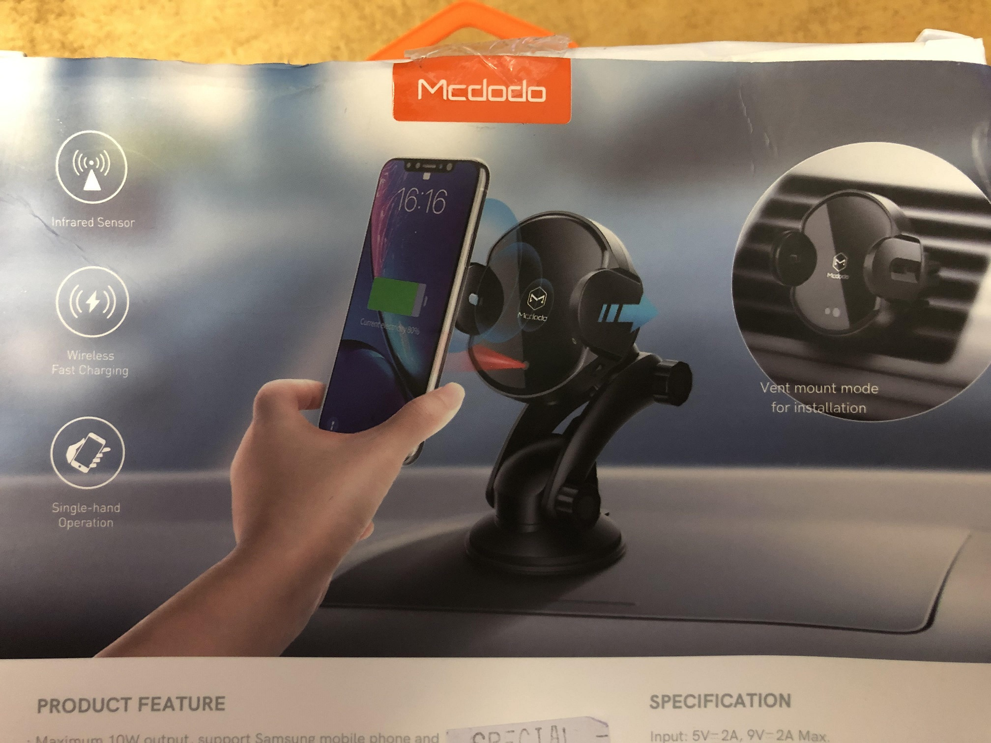 Handfree Wireless Car Charger Mount Image